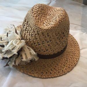 "Nordstrom ""Tarnish"" Straw hat"